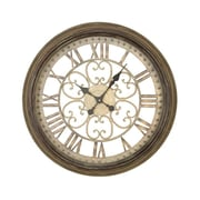 EC World Imports Victorian Inspired Hampton Metal Wall Art Clock