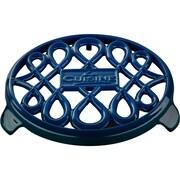 La Cuisine Round Cast Iron Trivet; Blue