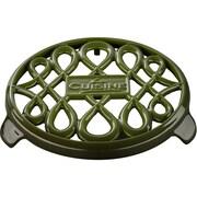 La Cuisine Round Cast Iron Trivet; Green