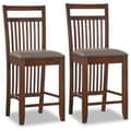 Leick Favorite Finds 25'' Bar Stool with Cushion (Set of 2); Dark Walnut/Chocolate