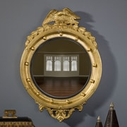 Hickory Manor House Regency Eagle Convex Mirror; Gold Leaf