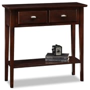 Leick Chocolate Oak Console Table