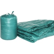 PUFF Ultra Light Indoor/Outdoor w/ Compact Travel Bag Throw; Peacock