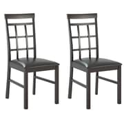 CorLiving Lattice Back Side Chair (Set of 2)