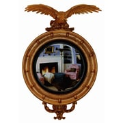 Hickory Manor House Carved Eagle Convex Mirror; Baroque
