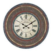 EC World Imports Urban Oversized 34'' Cafe De La Tour Paris Hand Carved Wall Clock