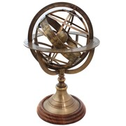 EC World Imports Engraved Brass Tabletop Armillary Nautical Sphere Globe