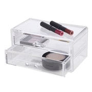 Richards Homewares Clearly Chic 2 Drawer Cosmetic Organizer