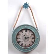 Wilco Ships Wheel Metal Wall Clock