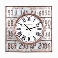 Wilco Lic Plates Metal Clock
