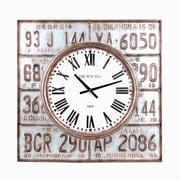 Wilco Home Lic Plates Metal Clock