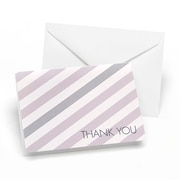 Hortense B. Hewitt Lagoon & Slate Simple Stripe Thank You Cards, Lavender & Slate