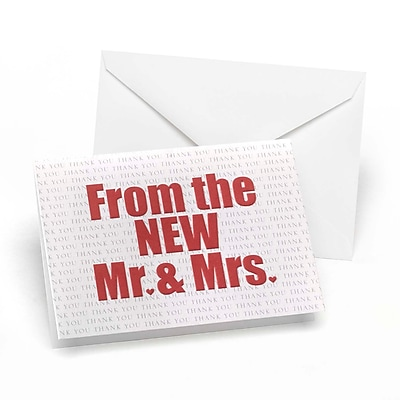 Hortense B. Hewitt, Wedding Accessories The New Mr. and Mrs. Thank You Cards 1501615