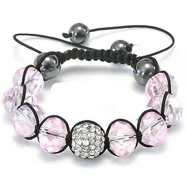 Best Desu Shambala-Style Crystal Bracelet, Rosaline Pink