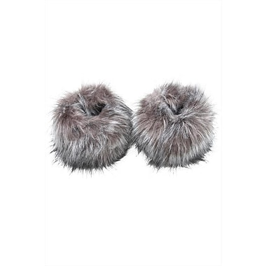 Best Desu Faux Fur Wristwarmers, Grey