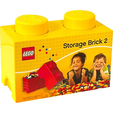 LEGO® Stackable Storage Brick 2, Yellow