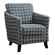 Monarch Specialties Inc. I 8004 Fabric Accent Chair, Dark Blue