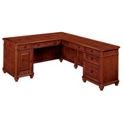 "DMI Office Furniture Antigua 748048A 30"" Wood/Veneer Right Computer L Desk, West Indies Cherry"