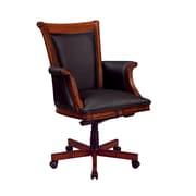 Antigua Antigua Leather Executive Office Chair, Fixed Arms, Cherry (7480-836)