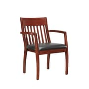 DMI Office Furniture Bently 65202002 Faux Leather Guest Chair, Bronze Cherry
