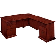 "DMI Office Furniture Del Mar 730267 30"" Wood/Veneer Right Executive L Desk with Bow Front, Sedona Cherry"