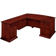 "DMI Office Furniture Del Mar 730268 30"" Wood/Veneer Left Executive L Desk with Bow Front, Sedona Cherry"