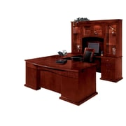 "DMI Office Furniture Del Mar 730277 30"" Wood/Veneer Right Executive U-Desk with Bow Front, Sedona Cherry"