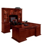 "DMI Office Furniture Del Mar 730278 30"" Wood/Veneer Left Executive U Desk with Bow Front, Sedona Cherry"