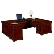 "DMI Office Furniture Rue de Lyon 768458A 30"" Wood/Veneer Left Executive U Desk, Ruby Cabernet"