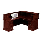 "DMI Office Furniture Governors 735067 44"" Laminate Left Reception L Desk, Mahogany"