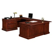 "DMI Office Furniture Keswick 7990538 30"" Wood/Veneer Left Lateral File U Desk, English Cherry"
