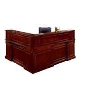 "DMI Office Furniture Keswick 799066 44"" Wood/Veneer Right Reception L Desk, English Cherry"