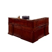 "DMI Office Furniture Keswick 799067 44"" Wood/Veneer Left Reception L Desk, English Cherry"