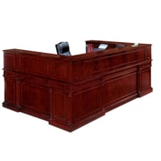 "DMI Office Furniture Keswick 799069 44"" Wood/Veneer Left Reception U Desk, English Cherry"