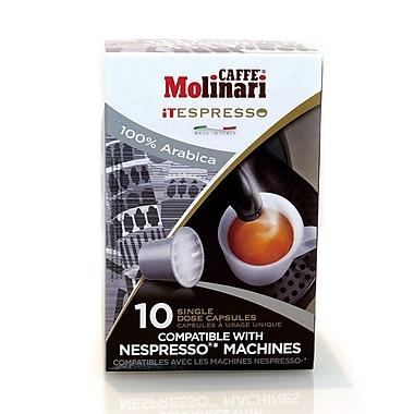 Caffe Molinari – Caffe Molinari iTespresso, Arabica, paquet de 120