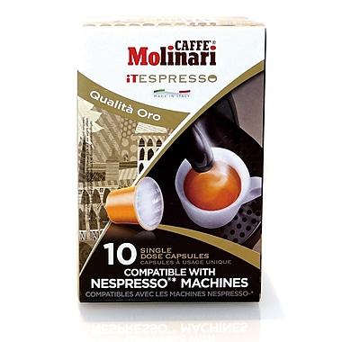Caffe Molinari Caffe Molinari iTespresso, Oro, 120/Pack