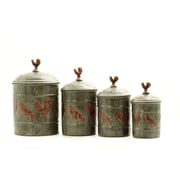 Old Dutch Rooster 4 Piece Fresh Canister Set