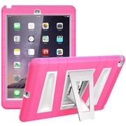 i-Blason Armorbox 2 Layer Full-Body Protection KickStand Case For iPad Air 2, Pink/White