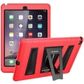 i-Blason Armorbox 2 Layer Full-Body Protection KickStand Case For iPad Air 2, Red/Black