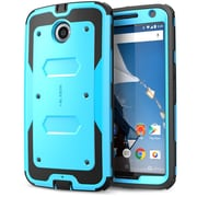 i-Blason Armorbox Dual Layer Hybrid Protective Case For Google Nexus 6, Blue/Black