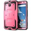 i-Blason Armorbox Dual Layer Hybrid Protective Case For Google Nexus 6, Pink/Black