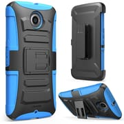 i-Blason Prime Dual Layer Holster Case For Google Nexus 6, Blue/Black