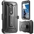 SUPCase Unicorn Beetle Pro Full-Body Protection Holster Case Combo For Google Nexus 6, Black/Black
