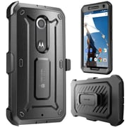 SUPCase Unicorn Beetle Pro Full-Body Protection Holster Case Combo For Google Nexus 6, Black/Black