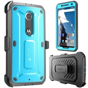 SUPCase Unicorn Beetle Pro Full-Body Protection Holster Case Combo For Google Nexus 6, Blue/Black