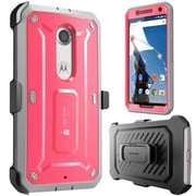 SUPCase Unicorn Beetle Pro Full-Body Protection Holster Case Combo For Google Nexus 6, Pink/Gray
