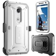 SUPCase Unicorn Beetle Pro Full-Body Protection Holster Case Combo For Google Nexus 6, White/Gray