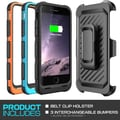 SUPCase Beetle Sport PowerPack Rechargeable Battery Holster Case For 4.7in. iPhone 6, Black