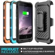 "SUPCase Beetle Sport PowerPack Rechargeable Battery Holster Case For 4.7"" iPhone 6, Black"