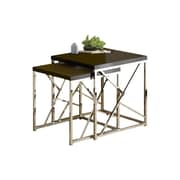 Wildon Home   2 Piece Nesting Table Set; Black